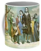 Landing Of The Pilgrims At Plymouth Coffee Mug