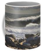 Large Waves Near Pemaquid Point On The Coast Of Maine Coffee Mug