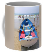 Lifeguard Boat At Ocean City Boardwalk New Jersey Coffee Mug