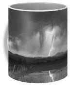 Lightning Striking Longs Peak Foothills 3 Coffee Mug