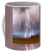 Lightning Striking Longs Peak Foothills 6 Coffee Mug
