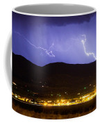 Lightning Striking Over Ibm Boulder Co 2 Coffee Mug
