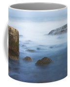 Long Exsposure Of Rocks And Waves At Sunset Maine Coffee Mug