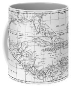 Map Of The West Indies Florida And South America Coffee Mug