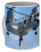 Marines Fast Rope From A Ch-46 Sea Coffee Mug