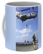 Marines Fast Rope From A Ch-46e Sea Coffee Mug