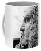 Men Working On Mt. Rushmore Coffee Mug