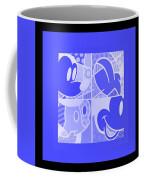 Mickey In Negative Light Blue Coffee Mug