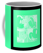 Mickey In Negative Light Green Coffee Mug