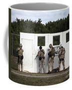 Military Reserve Members Prepare Coffee Mug by Michael Wood