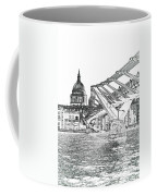 Millenium Bridge And St Pauls Coffee Mug