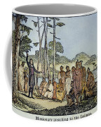 Missionary And Native Americans Coffee Mug