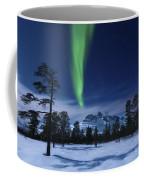 Moonlight And Aurora Borealis Coffee Mug