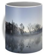 Mountain And Trees Reflected In A Foggy Lake Coffee Mug