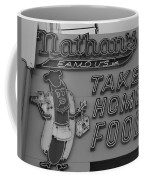 Nathan's Famous In Black And White Coffee Mug