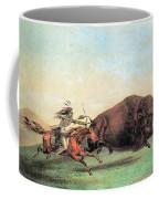 Native American Indian Buffalo Hunting Coffee Mug