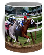 Neck And Neck At Saratoga One Coffee Mug