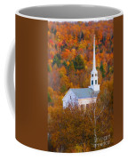 New England Church In Autumn Coffee Mug