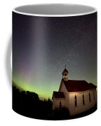Night Church Northern Lights Coffee Mug