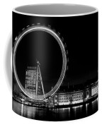 Night Image Of The London Eye And River Thames  Coffee Mug