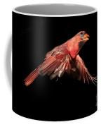 Northern Cardinal In Flight Coffee Mug