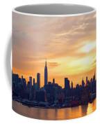 Ny Skyline Sunrise Gold Coffee Mug
