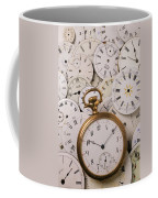 Old Pocket Watch On Dail Faces Coffee Mug