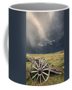 Old Prairie Wheel Cart Saskatchewan Coffee Mug