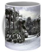Palm Trees With Snow Coffee Mug