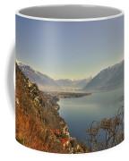 Panoramic View Over A Lake Coffee Mug