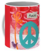 Peace Coffee Mug by Linda Woods