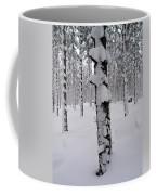Pine Forest In January Coffee Mug
