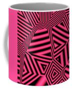 Pink And Black Abstract Coffee Mug