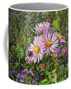 Pink New York Aster- Symphyotrichum Novi-belgii Coffee Mug