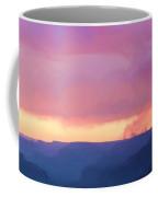 Pink Smoke Rises Coffee Mug
