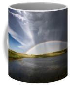 Prairie Hail Storm And Rainbow Coffee Mug