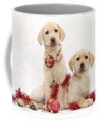 Puppies At Christmas Coffee Mug