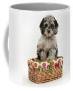 Puppy In A Basket Coffee Mug