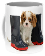 Puppy With Rain Boots Coffee Mug by Jane Burton