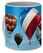 Red White And Balloons Coffee Mug
