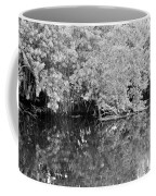 Reflections On The North Fork River In Black And White Coffee Mug