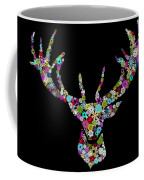 Reindeer Design By Snowflakes Coffee Mug