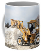 Removing Snow Coffee Mug by Ted Kinsman