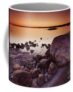 Rocky Shore At Twilight Coffee Mug