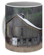 Rustic Weathered Mountainside Cupola Barn Coffee Mug