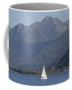 Sailing Boat And Mountain Coffee Mug