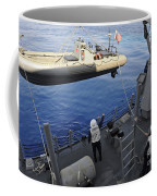 Sailors Lower A Rigid Hull Inflatable Coffee Mug