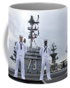 Sailors Man The Rails Aboard Coffee Mug