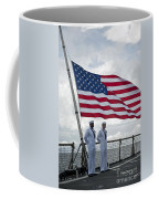 Sailors Stand At Parade Rest Coffee Mug