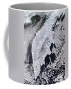 Satellite View Of Kamchatka Peninsula Coffee Mug